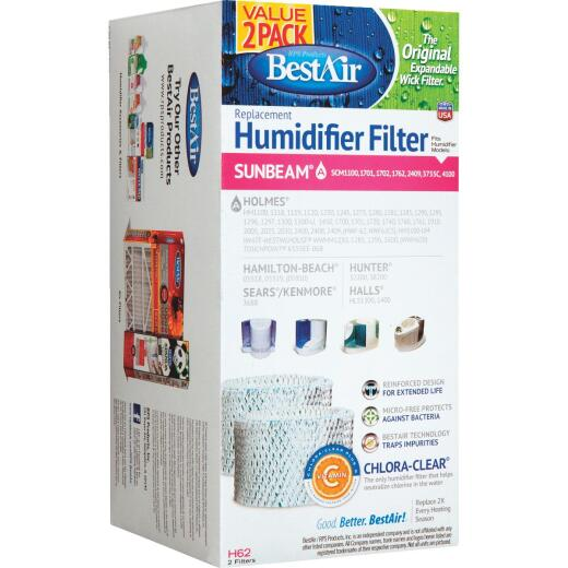 Best Air Table Top Humidifier Wick Filter (2-Pack)