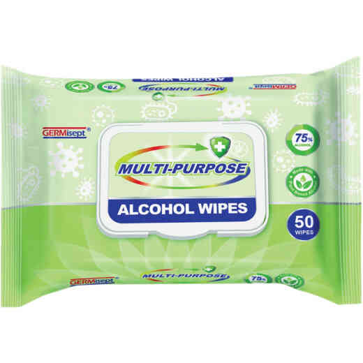 Germicept 75% Alcohol Antibacterial Multi-Purpose Wipe (50 Count)